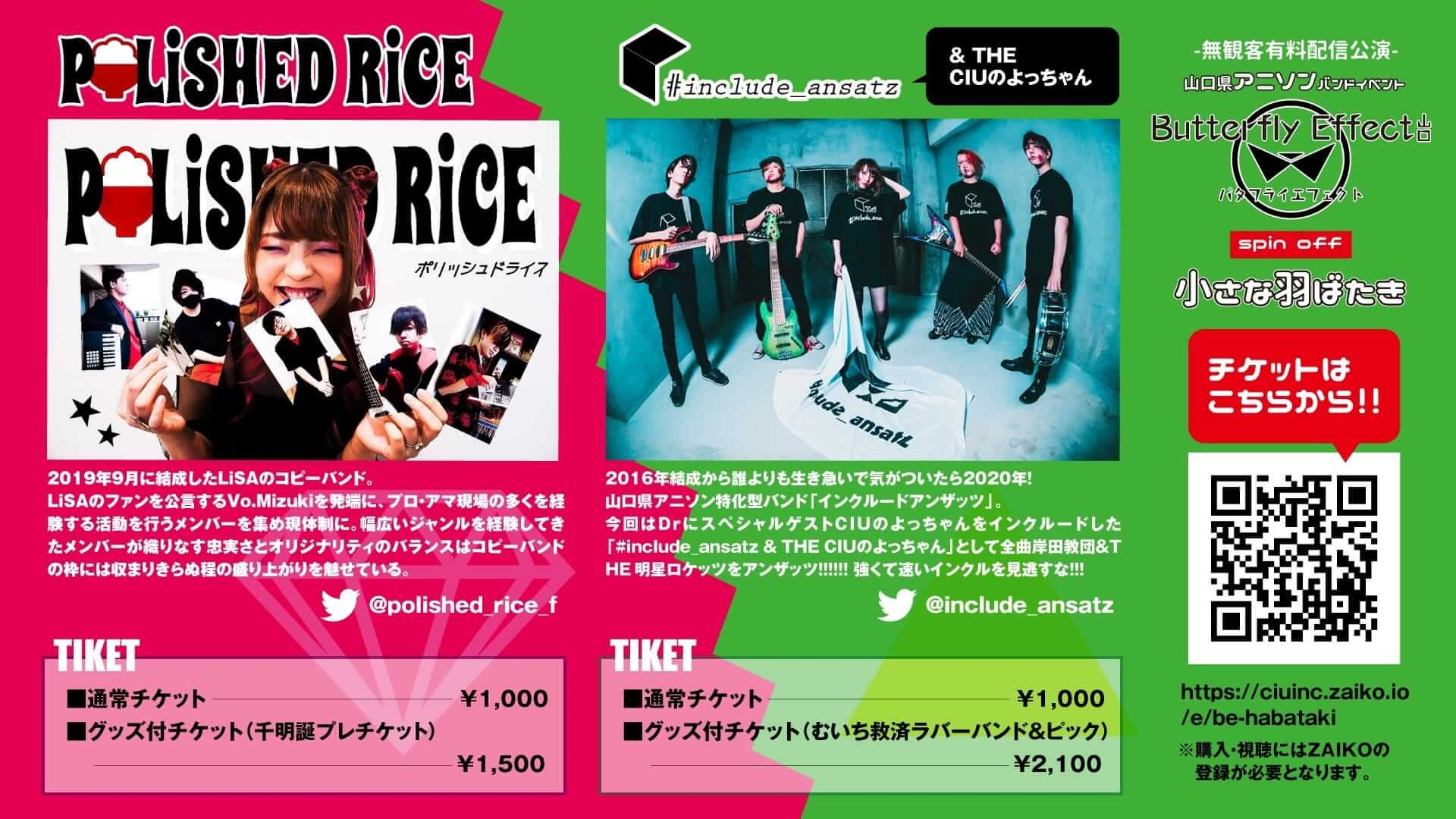 Butterfly Effect 山口 Vol.5.5 -無観客有料配信公演-フライヤー うら
